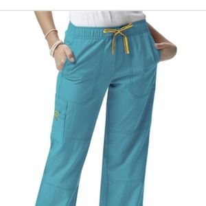 Teal Cargo Scrub Pants